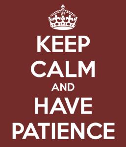 Calma y paciencia photo