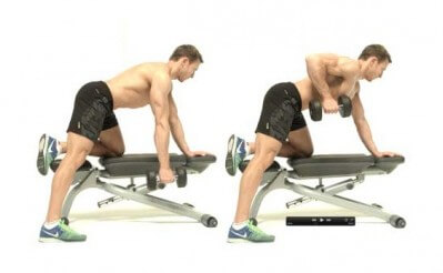 one-arm dumbbell rows