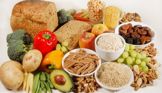 Fibre-rich foods. All these foods are high in insoluble fibre, the portion of plant foods that cannot be digested by the body. Insoluble fibre absorbs water, thereby helping the passage of other foods and waste products through the gut.